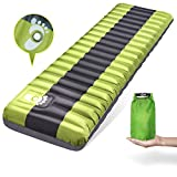 WDLHQC Inflated Sleeping Pad, Lightweight Inflatable Camping Mat Comfortable & Ergonomic Textured Design Airbed with Packing Bag for Backpacking Hiking Traveling Tenting Review