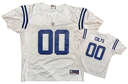 (Indianapolis Colts NFL Womens Team Replica Jersey, White (Large, White))