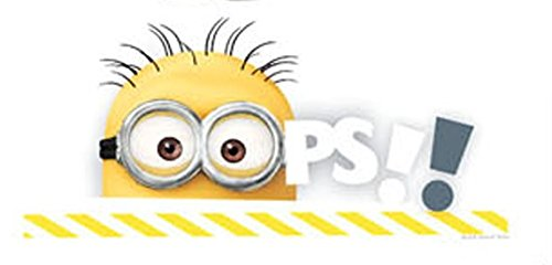[7 Inch Minion Goggles Jerry Despicable Me 2 Minions Removable Wall Art Decal Sticker Home Decor Kids Room-6 3/4 Inch Wide By 3 Inch] (Despicable Me Glasses)