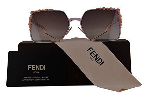 Fendi Authentic Sunglasses FF0259/S Pink w/Violet Brown Gradient Lens 35J FF 0259/S F0259/S FF0259S F0259S (60mm)
