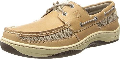 SPERRY Men's Tarpon 2-Eye Boat Shoe, Linen/Oat, 9