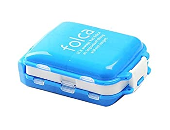 8 Solt Multi-Functional Portable Pill Box Color Blue, Home Travel Necessary