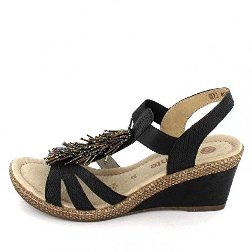 Remonte D0458-01 - Sandalias de vestir para mujer negro
