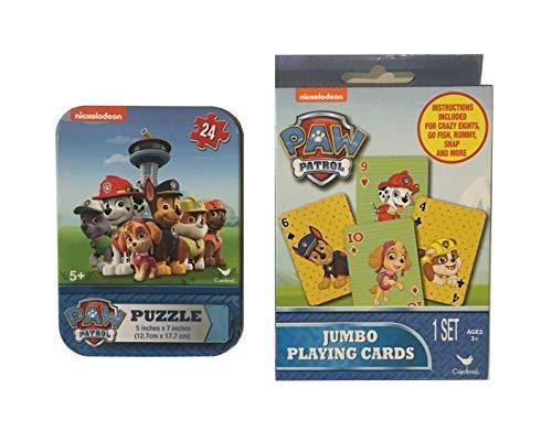 Paw Patrol Jumbo Playing Cards and Puzzle Tin Set (Paw Patrol)