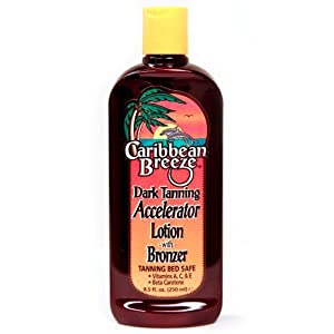 Caribbean Breeze-Dark Tanning Accelerator Lotion w/ Bronzer
