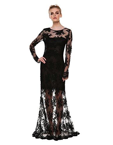 Kleid schwarz lang ruckenfrei