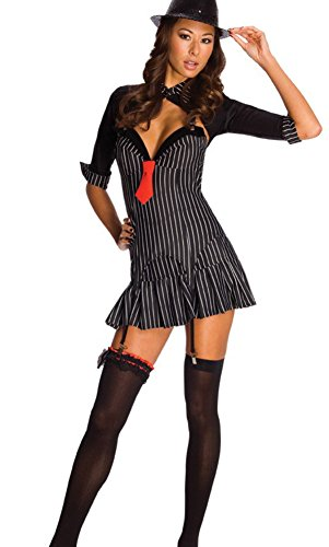 Rubie's Adult's X-Small 0-2 Sexy 20s Mafiosa Gangster Costume Black/White]()
