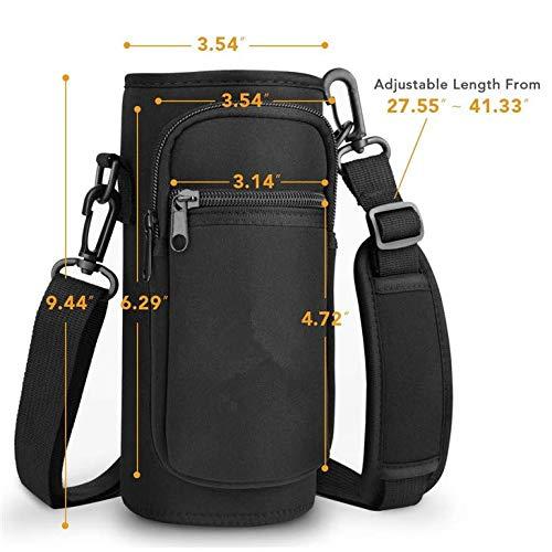 Water Bottle Sling. Shoulder Sling Adjustable Strap Precise Portions H2O-2-GO Hands-Free Carrying Case
