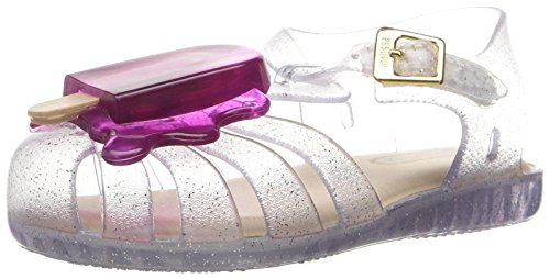Mini Melissa Girls' Aranha Viii Mary Jane, Clear, 7 M US Toddler