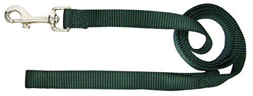 - Hamilton 3/4-Inch Single Thick Nylon Lead with Swivel Snap, 6-Feet Long, Dark Green