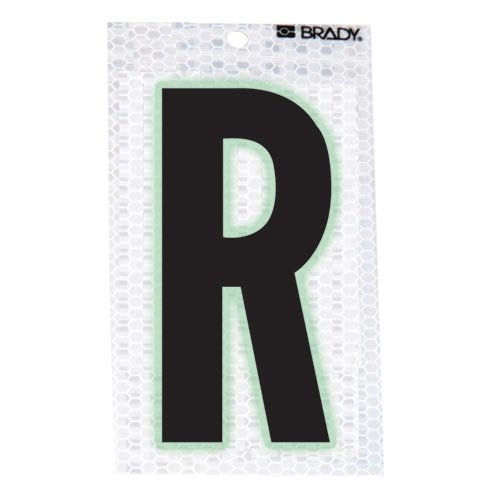 Brady 3010-R, 52286 Glow-In-The-Dark/Ultra Reflective Letter - S, 12 Packs of 10 pcs