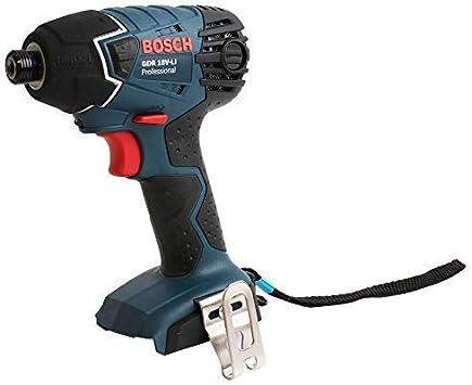 Bosch GDR 18 V-LI - Atornillador de impacto (18V, Ión de litio, 30 min, 14.5 cm, 24.1 cm, 1.7 kg) Negro, Azul
