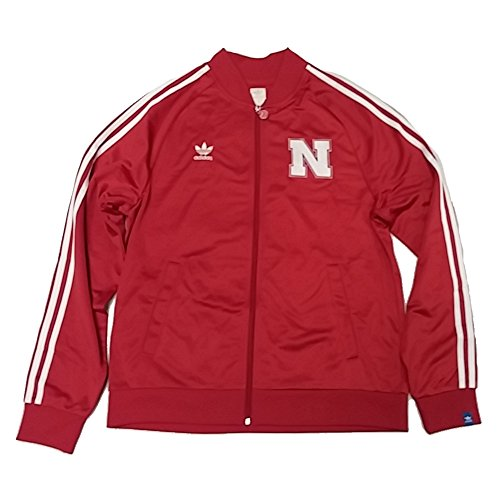 adidas Mens University of Nebraska Legacy Track Jacket Power Red ()