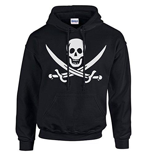 Jack Pirate Camice con Bandiera S xxxl Rackham Adsylum cappuccio Calico nera xTxFRtw
