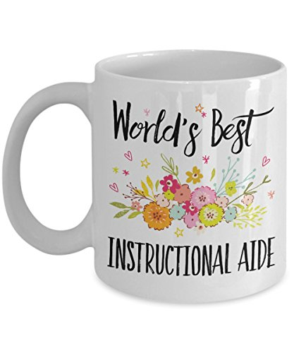 Instructional Aide Gift Mug - World's Best - Appreciation Coffee Cup
