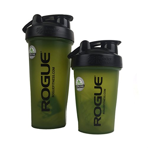 Rogue Fitness   Sports Nutrition Crossfit Shaker Bottle   Multiple Sizes (Army Green) (20 oz)