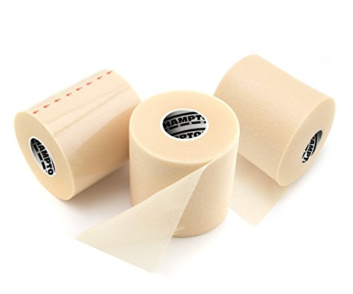 Triple Pack Sports Wrap/Athletic Tape - Professional Grade Foam - Perfect for Taping Wrist, Ankles and Knees - Ultra Strong ()