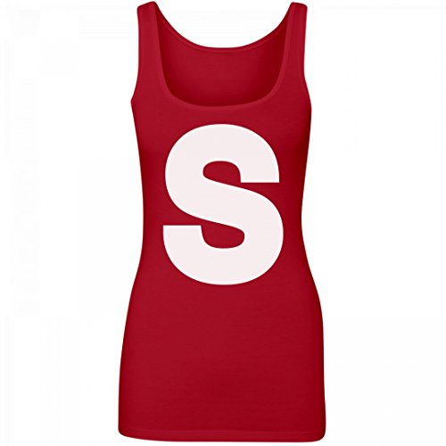 Skittles Outfit (Candy Group Costume Red: Junior Fit Longer Length Tank Top)