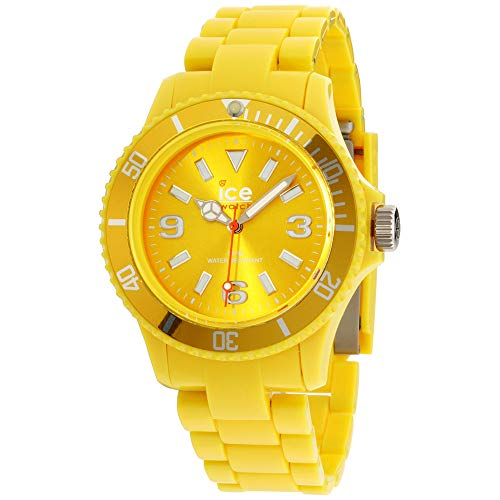 - Ice Classic Solid Yellow Dial Plastic Strap Unisex Watch CSYWUP10