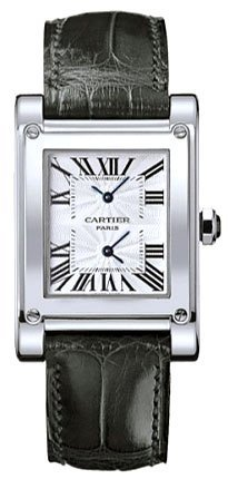 Cartier Tank A Vis Dual Time Zone Ladies Watch W1534351