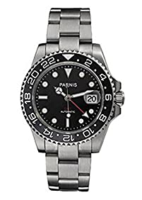 Parnis Unisex p101506 Analog Automatic Self-wind Mechanical Silver Stainless Steel Watch