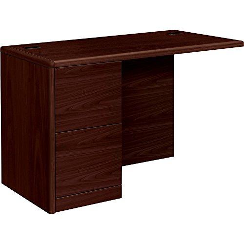 Return Desk Left Pedestal (HON 10700 Series Left Return Pedestal Desk, 48 by 24 by 29-1/2-Inch, Mahogany)