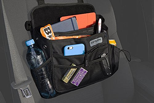 MayBron Gear Front Seat Car Organizer by, Mobile Office, Practical Portable Car Companion With Multiple Compartments, Tidy Up Your Ride ()