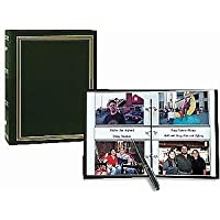 3-ring 2-up slip-in pocket HUNTER-GREEN binder album for 400 photos - 4x6