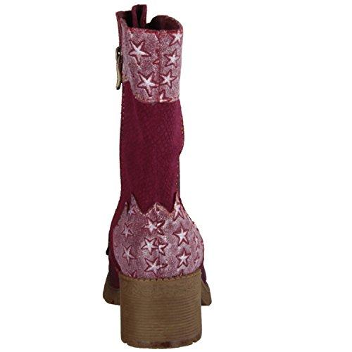 Laura Vita Corine 02- Damenschuhe modische Stiefelette, Mehrfarbig, leder/textil, absatzhöhe: 30 mm
