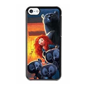 Brother Bear G9J3IT2R Caso funda iPhone 5c Caso funda del teléfono celular Negro