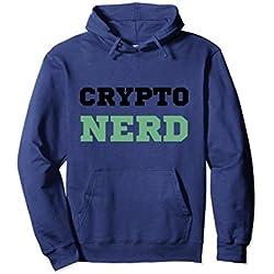 Unisex Crypto Nerd Cryptocurrency Hoodie Small Navy