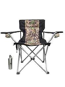 Amazon Com Heated Folding Camo Chair By Homestead With