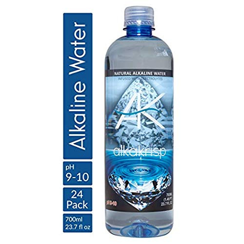 AlkaKrisp Natural Alkaline Water Bottle pH 9 - 10, Refreshing Premium Pure 8 Stage Filtered Ionized, Nutrient Mineral Enhanced, Electrolyte Infused to Rehydrate (24 Pack)