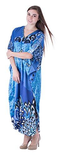 Sante Classics Women's Poly Satin Caftan Sea Breeze One Size