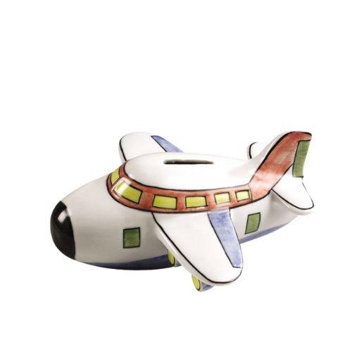 Airplane Bank (Ceramic Airplane Coin Piggy Bank)