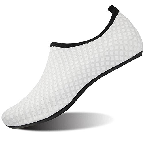 Grid Shoes RUN L white Barefoot Water Yoga Dive Run Shoes Beach Skin Unisex Swim Surf YfOqOCxFw