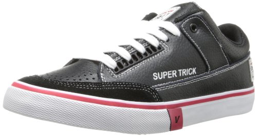 Syn Street Wear Mens Super Trick Låg Mode Sneaker Svart / Vit