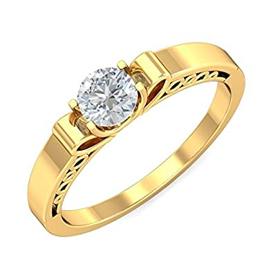 7d60782bde6e5 Buy Aurolbliss Gifted Beauty 18 Karat Gold Ring Online at Low Prices ...