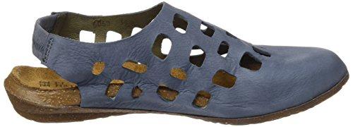 Damen Naturalistici N5060 Piacevole Wakataua Chiuso-punta Sandalen Blau (cowboy)