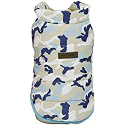 Clearance Pet Clothes Cinsanong Bright Colors Vest Puppy Fashion Camouflage Winter Warm Dog Clothes Coat