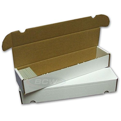 BCW 930 Count- Corrugated Cardboard Storage Box - Baseball, Football, Basketball, Hockey, Nascar, Sportscards, Gaming & Trading Cards Collecting Supplies (2 Boxes) ()
