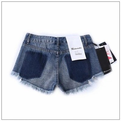 Sexy Bleu Femme Court Et Oudan Vintage Asymtrique Rtro Dechir Shorts Jeans vORSa0