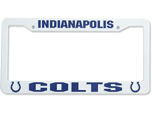 INDIANAPOLIS COLTS Team Logo Plastic LICENSE PLATE FRAME