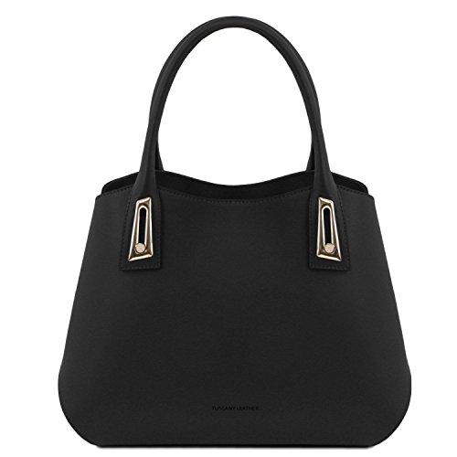 Tuscany Leather Flora Borsa a mano in pelle - TL141694 (Celeste) nero