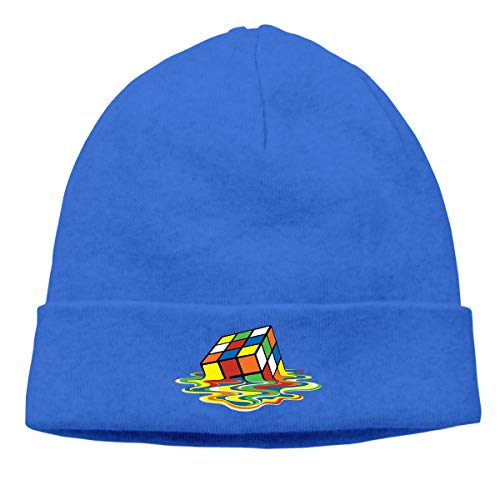 Hip-Hop Knitted Hat for Mens Womens Colorful Cube Unisex Cuffed Plain Skull Knit Hat Cap Head Cap -