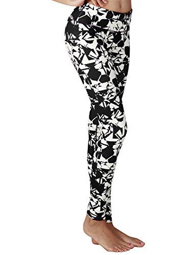 Yoga Reflex - Yoga Pant for Women - Performance Activewear Printed Yoga Leggings - Hidden Pocket (From XS to 2XL) , Figureblack , X-Large