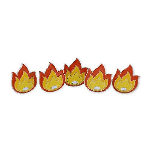 Fire Flame It's LIT Fuego Enamel Lapel Pin- 5 Pins