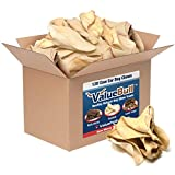 ValueBull Cow Ears, Jumbo Premium, 120 Count, Natural Dog Treats - Angus Beef, USDA/FDA-Approved
