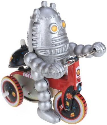 Hellery Wind Up Tin Toy Planet Robot En Triciclo Scooter Modelo De Coche De Colección