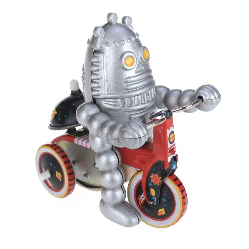 Wind Up Tricycle (MagiDeal Wind Up Baby Robot on Tricycle Metal Tin Toy Collectible Gift)
